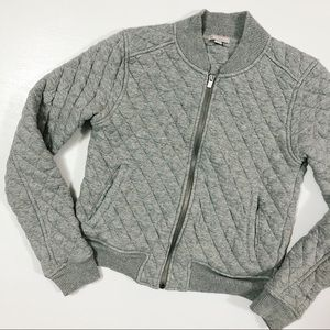 Gap Quilted Bomber Jacket Grey